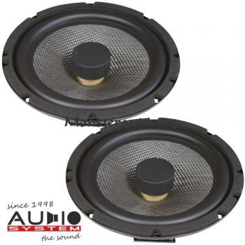 Audio System AS-165 Flat EVO 16,5cm Kicker Kickbass-Lautsprecher Flach 165mm 130 Watt AS165 FL EVO