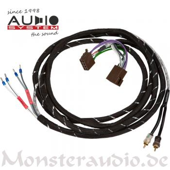 Audio System HLAC2-5M 2-Kanal High-Low-Adapter-Kabel ISO plug & play HLAC 2 5M