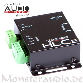 Audio System HLC-2 High-Low-Level-Adapter-Converter Konverter Autoradio Adapter HLC2