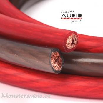 Audio System 10mm² Powerkabel OFC Kupfer Kabel 10qmm Stromkabel Massekabel Z-PC 10 Meterware