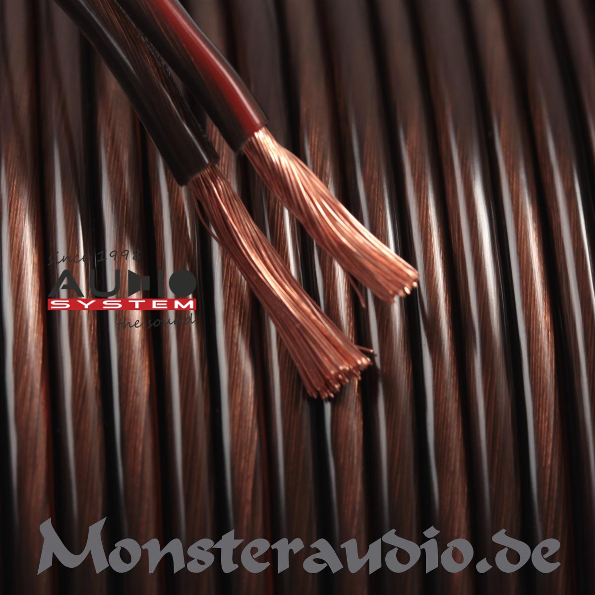Monsteraudio - 100m Audio System 4mm² Lautsprecherkabel OFC Kupfer ...
